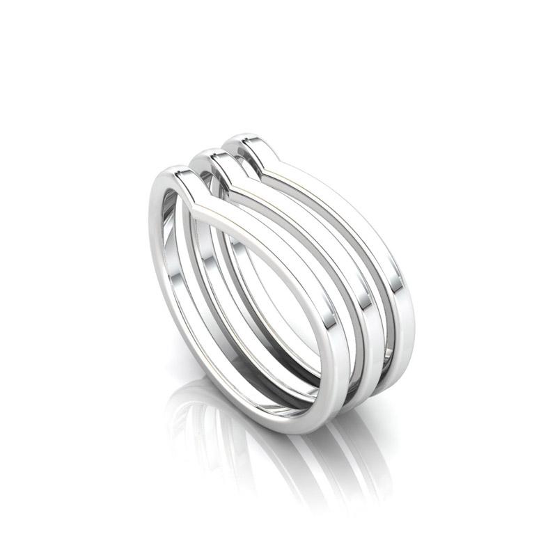 Chevron Stack Ring (3)