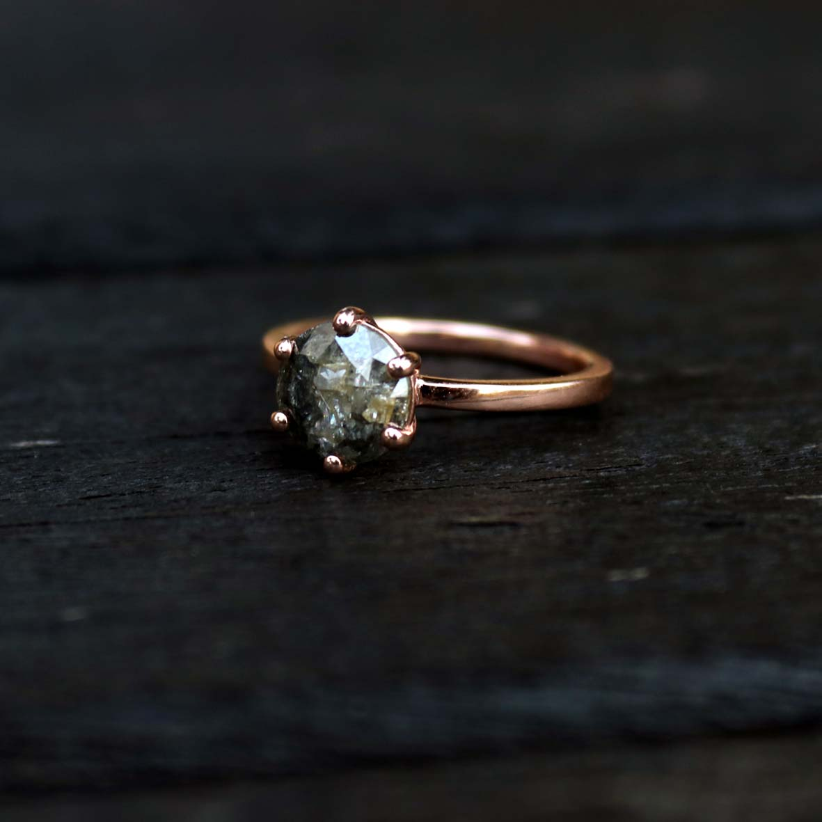9ct Rose Gold, 1.67ct Natural Diamond