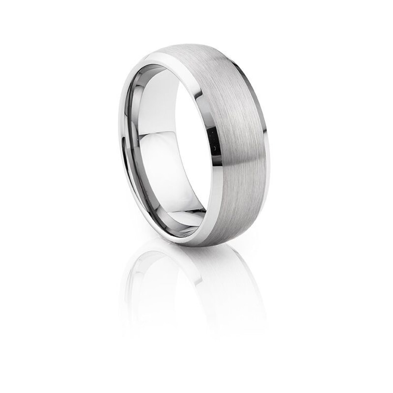 Tungsten Carbide Brushed & Polished Shiny