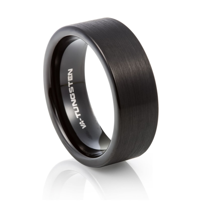 Tungsten Carbide Matte Black Plating